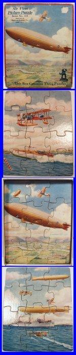 1920-30's Air Fleet Madmar Jigsaw Picture Puzzle Set