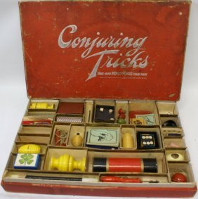 """Very Rare British """"conjuring Tricks"""" Magic Set By Spear"""