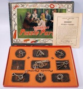 Rare Vintage 1921 A.c. Gilbert Puzzle Parties Playset