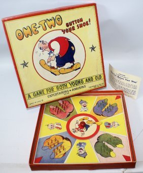Ultra Rare Vintage One-two Button Your Shoe Board Game,