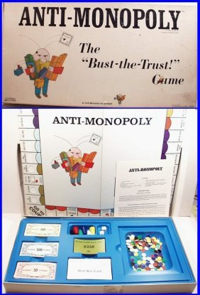 """Vintage 1973 Anti-monopoly """"bust The Trust"""" Ralph"""