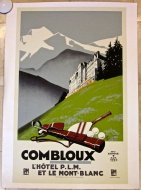Combloux -1925 French Golf Travel Poster Rare French