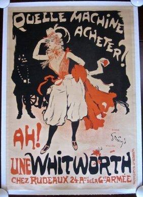 Une Whitworth Circa 1900 French Lb Poster Bourgerie &