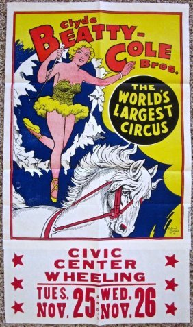 Clyde Beatty Circus Poster - Roland Butler Artwork!