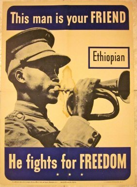 1942 Wwii Poster - This Man Is Your Friend - Ethiopian