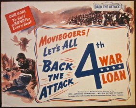 Moviegoers Let's All Back The Attack Wwii Lc Size