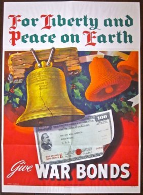 For Liberty And Peace On Earth 1944 Wwii Poster-