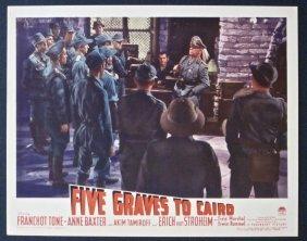 Five Graves To Cairo '43 Lc Billy Wilder ~ Erich Von