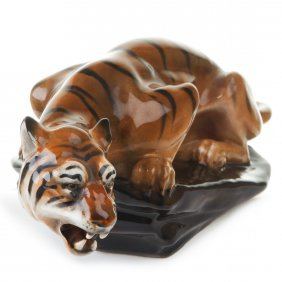 Royal Doulton Figurine Tiger On A Rock , Hn876, H.