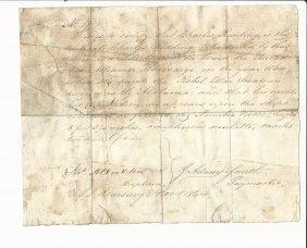 1864 Manuscript Civil War Kearsarge Signed By Captain