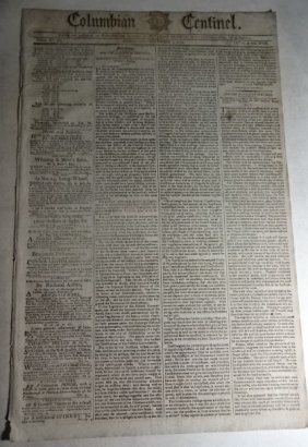 1792 Newspaper United States Elections Constitution