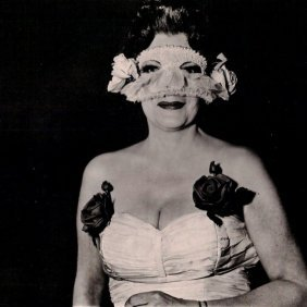 Arbus, Diane - Lady At Masked Ball With Rose, Ny 1967