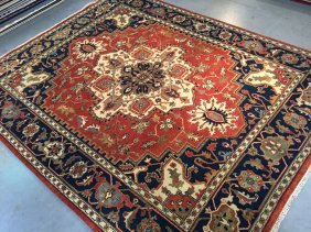 "8x10 Gorgeous Hand Knotted ""serapi"" Design Wool Rug"