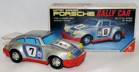 Vintage Tin Litho Battery Op Porsche Martini Racing