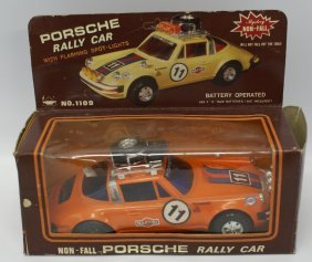 Vintage Battery Operated Porsche Rally Martini Racing