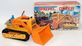Vintage Battery Operated Shovel Dozer Toy Bulldozer