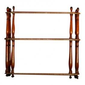 Mahogany & Brass Stick Stand