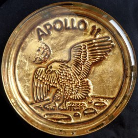 Murano Apollo 11 Gold Leaf Paperweight