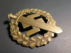 Wwii German Nazi Bronze Sports Badge