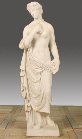 19TH CENT. ITALIAN CARVED MARBLE GARDEN STATUE