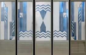 SET 5 ART DECO STYLE PANELS