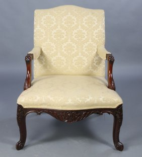 LOUIS XV STYLE CARVED ARMCHAIR C.1940