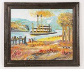 TOD (RAPHAEL LEROY) LINDENMUTH SIGNED OIL