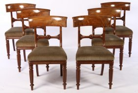 6 French Louis Philippe Dining Chairs 19th C.