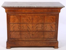 19th C. French Louis Philippe Commode 5 Drawers