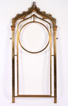 Gothic Style Brass Frame Circa 1900