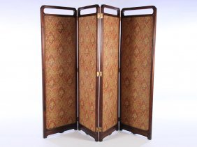 French Four Panel Screen Asian Style 1900