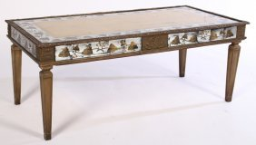 Jansen Eglomise Decorated Coffee Table 1940