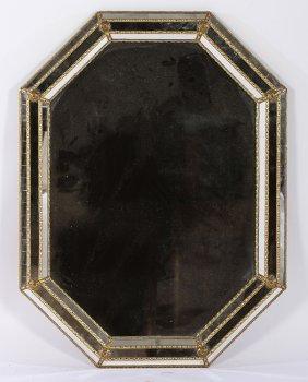 Brass & Glass Octagonal Mirror