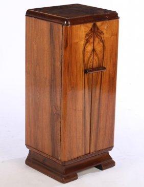 Art Deco Vertical File Cabinet 2 Doors 1930