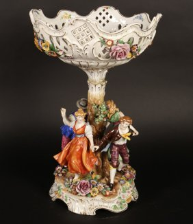 German Porcelain Footed Center Table Bowl C.1930