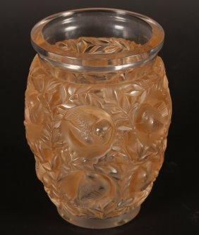 Lalique Bagatelle Glass Vase Engraved R.lalique