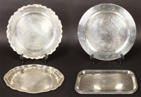 4 Sterling Silver Salvers 139.485 Troy Oz C.1940