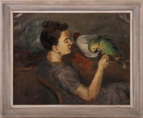 Albert Serwazi Oil On Canvas Painting Pafa