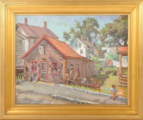 Joseph Margulies Signed Oil On Canvas Cape Ann