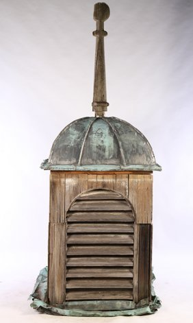 19th Cent. American Copper Wood Cupola Domed Top
