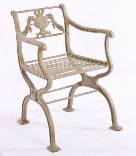 Neoclassical Cast Iron Garden Chair Xform Base