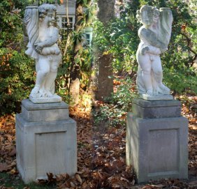 Vicenza Stone Garden Figures On Bases 1930