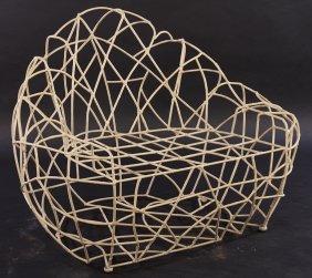 Interesting Free Form Wire Work Sculptural Chair
