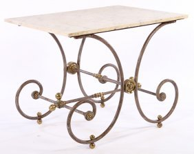 French 19th Cent. Bakers Pastry Table Marble Top