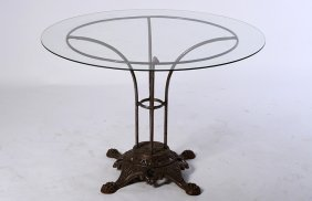French Labeled Paris Cast Wrought Iron Table