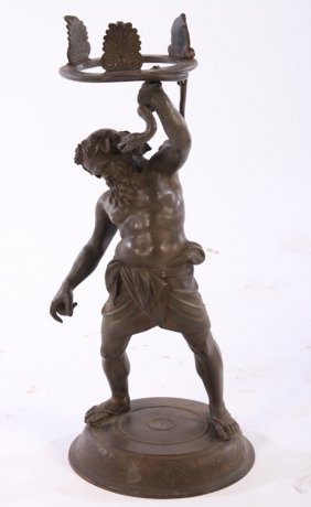 Grand Tour Style Bronze Hercules Upraised Arm