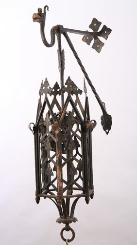 Iron Wall Sconce Manner Of Yellin Gothic 1890