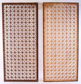 Pr. 19th Cent. Cast Iron Architectural Panels