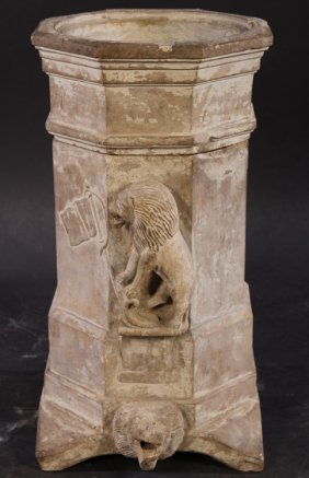 18th Cent. Carved Limestone Cistern