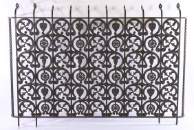 Large Pair Cast Iron Panels Celtic Inspiration